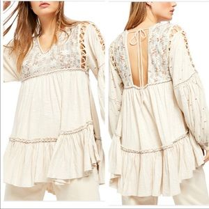 Free People Much Love Tunic in Salt NWT